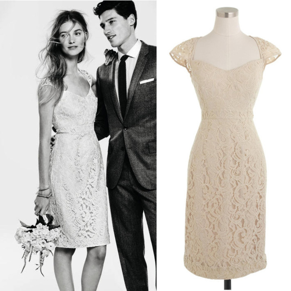 J. Crew Dresses & Skirts - J. Crew Tinsley Dress in Leavers Lace Champagne